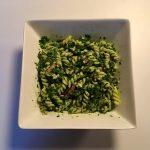 Watermeloen-fêta-salade om je vingers bij op te eten